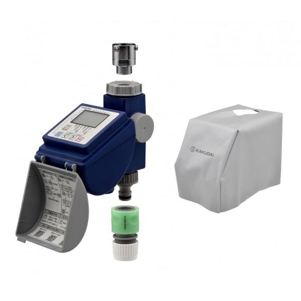 【送料無料】GAONA ガオナ 潅水コンピューター 保護カバー付き (散水タイマー 曜日設定 簡単操作) GA-QE004 1個