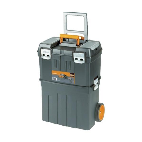 【送料無料】バーコ ヘビーデューティー仕様キャスター付きプラスチックボックス 460 x 300 x 640 mm 4750PTBW47