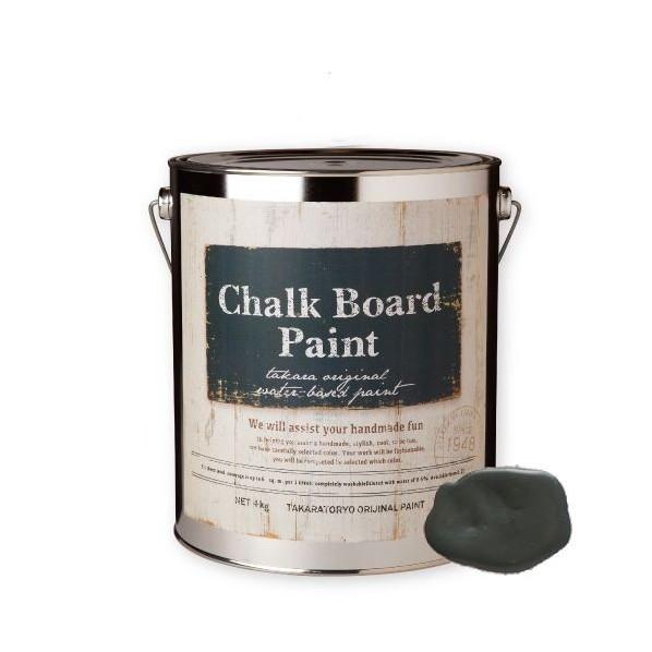 【送料無料】タカラ塗料 チョークボードペイント 4kg オリーブグレー CBP_4kg_Olive Gray 1個