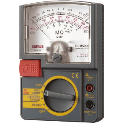 【送料無料】SANWA アナログ絶縁抵抗計 43 x 99 x 144 mm PDM509S