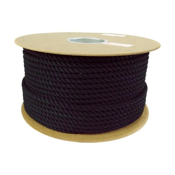 【送料無料】ユタカ ロープ綿ロープドラム巻9φ×100mブラック 305 x 305 x 150 mm PRC-51