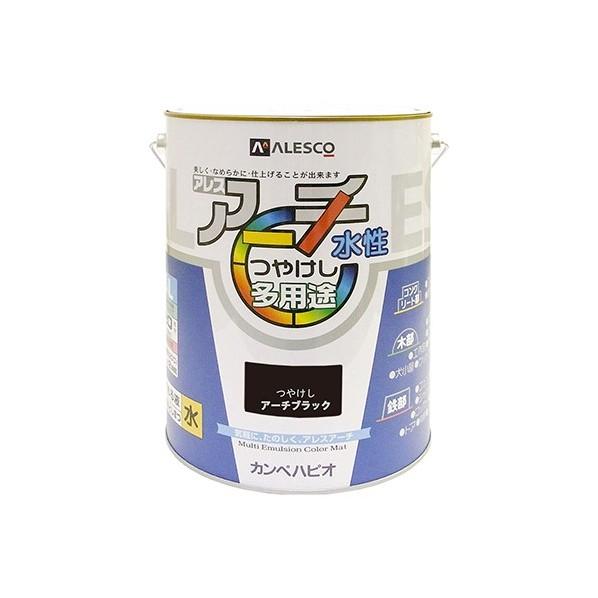 【送料無料】カンペハピオ アレスアーチ(水性つやけし多用途) アーチブラック 4L