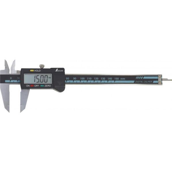 シンワデジタルノギス大文字150mmホールド機能付
