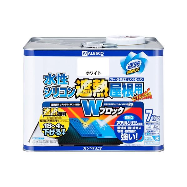 【送料無料】カンペハピオ 水性シリコン遮熱屋根用 ホワイト 7K