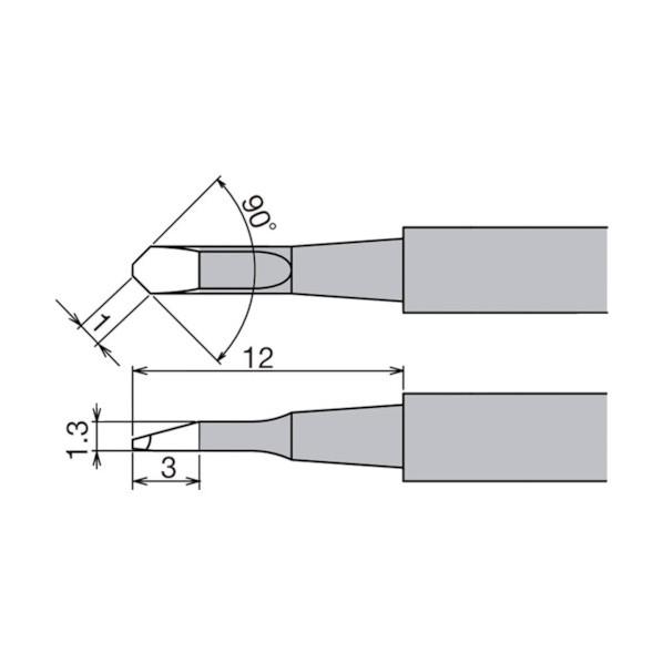 【送料無料】グット 替こて先XST−80G用 130 x 70 x 65 mm XST-80HRT-1C