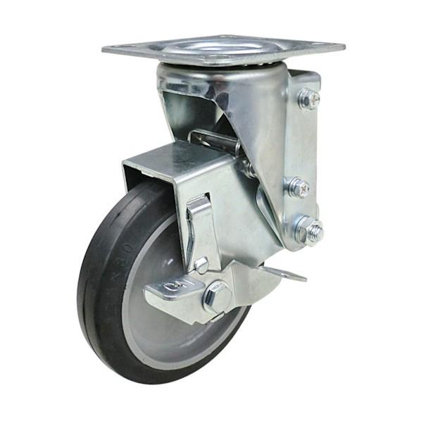 【送料無料】ユーエイ クッションキャスター125径自在車ストッパー付ゴム車輪 160 x 107 x 193 mm SHSKY-S125NRBDS-30