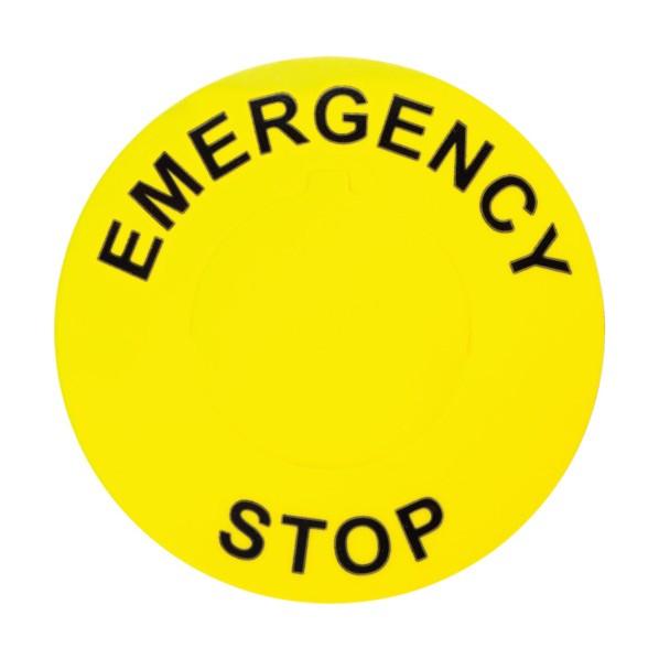 【送料無料】パンドウイット 非常停止ボタン用ラベル(25本入) 152.4 x 203.2 x 12.7 mm C350A8-30-ES