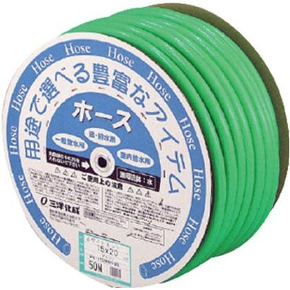 【送料無料】サンヨー ホワイトネットホース15×20グリーン50mドラム巻 420 x 420 x 210 mm WN-1520D50G