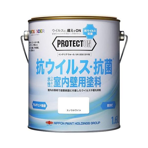 ニッペホーム PROTECTON インテリアウォール VK-200 DIY用 1.6L スノウホワイト プロテクトン 1個