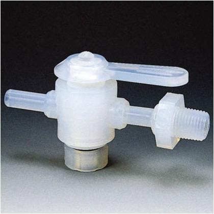 【送料無料】フロンケミカル フッ素樹脂(PFA)二方バルブ装置用8パイ接続ネジR1/4 NR1305-002