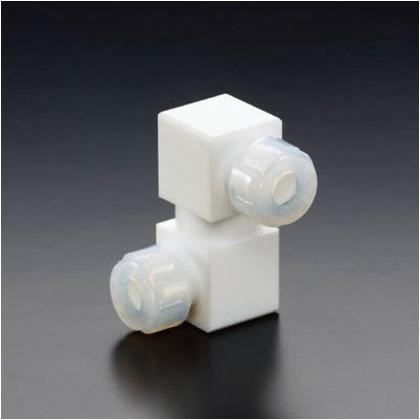 【送料無料】フロンケミカル フッ素樹脂フレキシブル接続ジョイント6パイ×8パイ NR1650-002