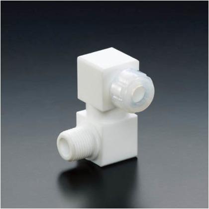 【送料無料】フロンケミカル フッ素樹脂フレキシブルハーフオスジョイント1/4パイ×R1/2 NR1651-012