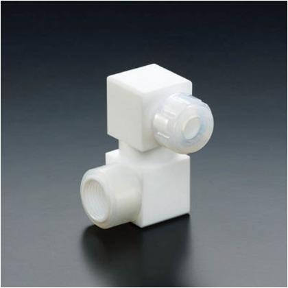 【送料無料】フロンケミカル フッ素樹脂フレキシブルハーフオスジョイント8パイ×RC1/2 NR1652-006