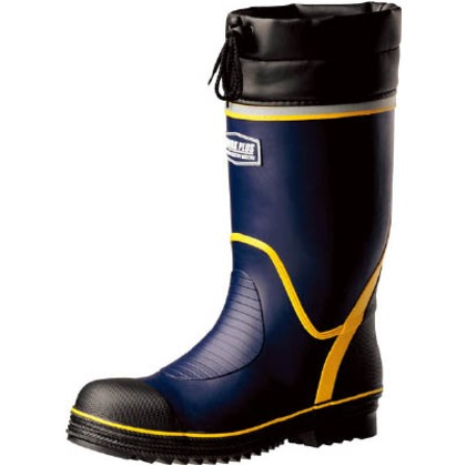 【送料無料】ミドリ安全 ワイド樹脂先芯入り安全長靴 766N-NV-25.5