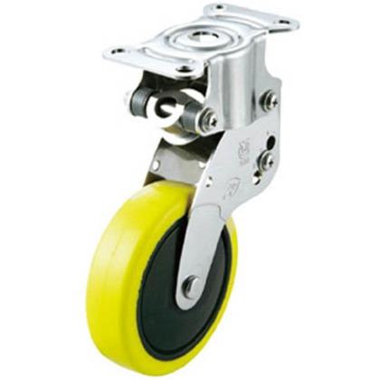 【送料無料】ユーエイ クッションキャスター固定車100径帯電防止性ウレタン車輪 SKY-R100SUE-1