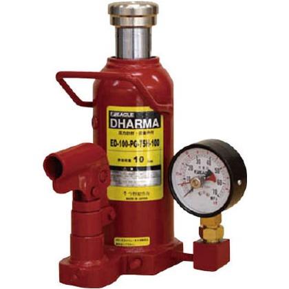 【送料無料】イーグル 置針式ゲージ付油圧ジャッキ能力10t ED-100-PG-75H-100