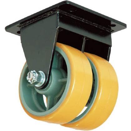 【送料無料】ヨドノ 鋳物超重荷重用双輪キャスター固定車ウレタン車輪付UHBWーk150X75 UHBW-K150X75