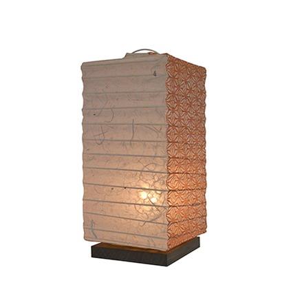 【送料無料】彩光デザイン 和風照明テーブルランプ 落水雲龍×麻葉煉瓦 W120mm×D120mm×H270mm B-27