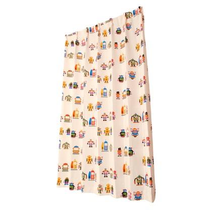 ユニベール キッズドレープカーテン ロボくん ミックス 幅100×丈178cm 2枚組