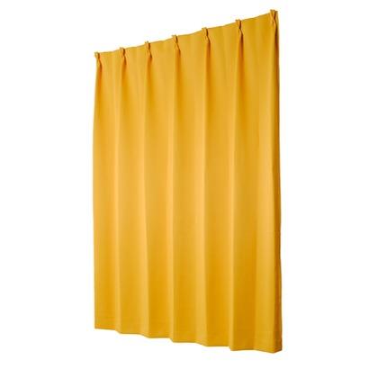 ユニベール 遮光性ドレープカーテン ベルーイ イエロー 幅100×丈120cm 2枚組