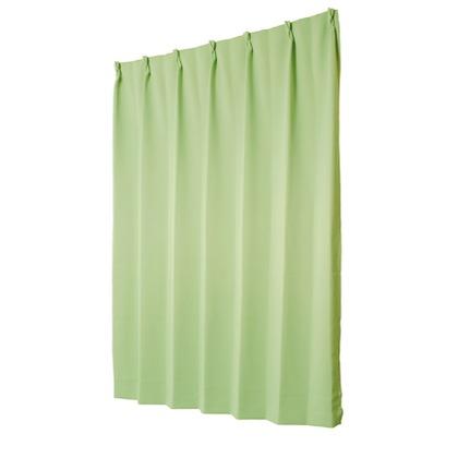 ユニベール 遮光性ドレープカーテン ベルーイ グリーン 幅100×丈200cm 2枚組