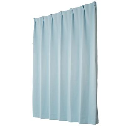 ユニベール 遮光性ドレープカーテン ベルーイ ブルー 幅100×丈135cm 2枚組