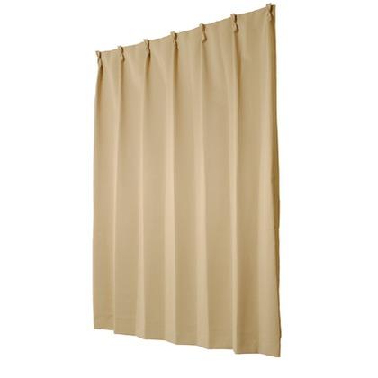 ユニベール 遮光性ドレープカーテン ベルーイ ベージュ 幅150×丈210cm 1枚