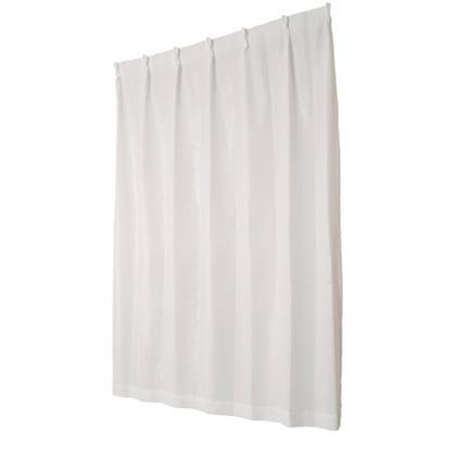 ユニベール ミラーレースカーテン ライリー ホワイト 幅100×丈176cm 2枚組