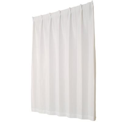 ユニベール ミラーレースカーテン ライリー ホワイト 幅100×丈188cm 2枚組