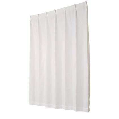ユニベール ミラーレースカーテン ライリー ホワイト 幅100×丈118cm 2枚組