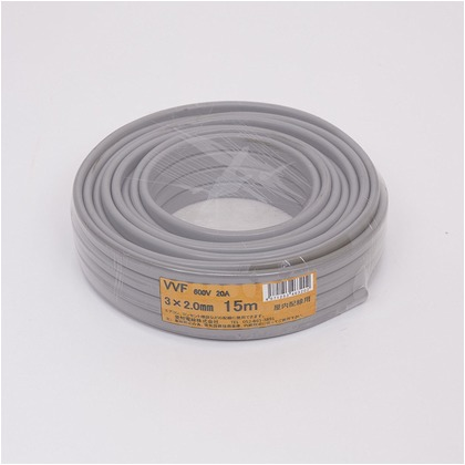 VVFケーブル600Vビニル絶縁ビニルシースケーブル  直径(mm):210.高さ(mm):60 VVF3X2.0M15