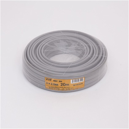 VVFケーブル600Vビニル絶縁ビニルシースケーブル  直径(mm):240.高さ(mm):60 VVF3X2.0M20