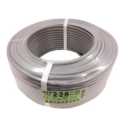 【送料無料】愛知電線 VVFケーブル600Vビニル絶縁ビニルシースケーブル 直径(mm):370.高さ(mm):12 VVF2X2.6M100
