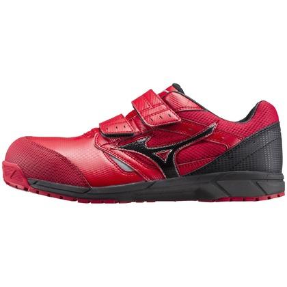 ミズノ 作業用靴ALMIGHTYLS レッド×ブラック 27.0cm C1GA170162270
