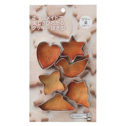 貝印 クッキー型 クッキー抜き型 ツリー 星 kai House SELECT D-L6190 6個