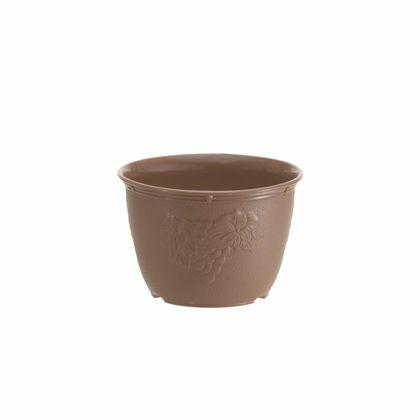 山田化学 植木鉢 ビオラデコ 5号 チョコブラウン