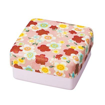たつみや 加賀桜 布貼 2段オードブル ピンク