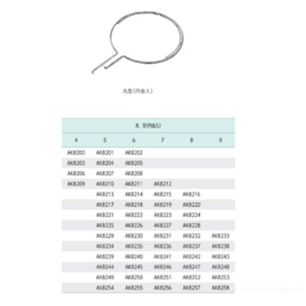 ステンレス製玉枠標準型丸型(内金入)6×390