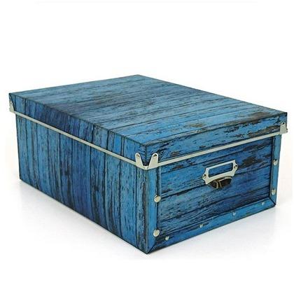 東洋ケース アンティークスタイルボックス L ブルー ASB-L-BL