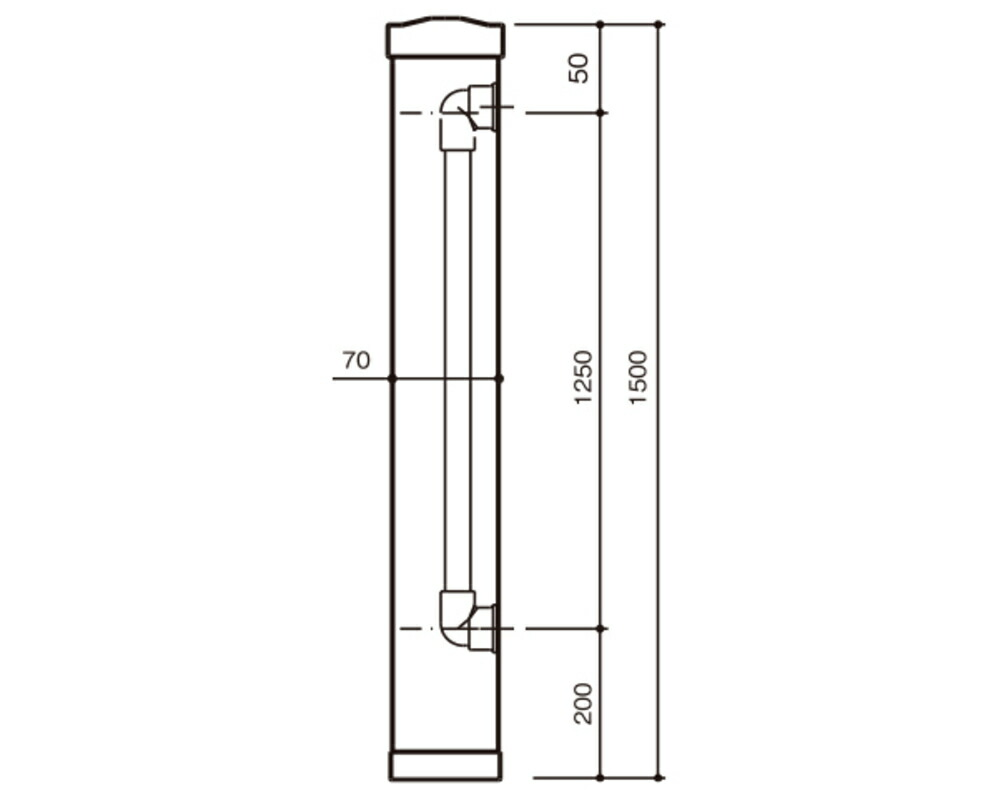 水栓柱 70角
