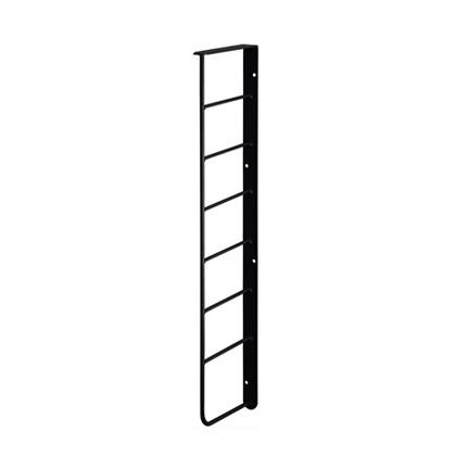 L型シェルフフレーム4 黒 幅2cm×奥行12cm×高さ46.5cm WFK-34 1 個