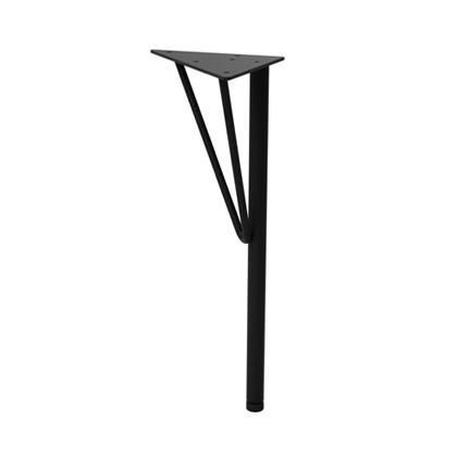 スチールローテーブル脚 黒 幅15cm×奥行15cm×高さ37.5cm WTK-2 1 本