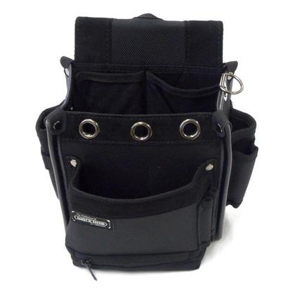 電工袋 ダストポケット付 ブラック  KNP-11s 1 個