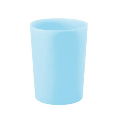 MARNA(マーナ) シリコンコップ シリコーンコップ ライトブルー ライトブルー  約径6.6×高さ8.6cm