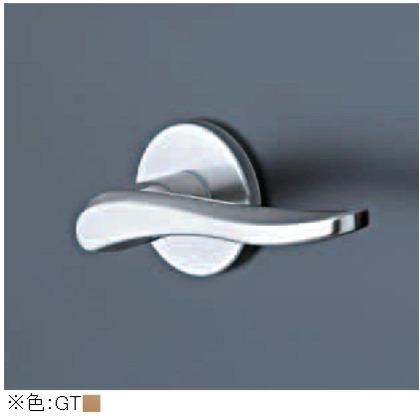レバーハンドル 丸座 空錠 チタンゴールド  TXS-1K01-GT