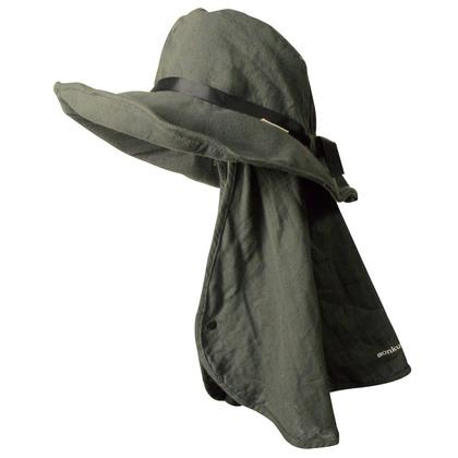 Wガーゼ帽子 14チャコール フリー MK36117