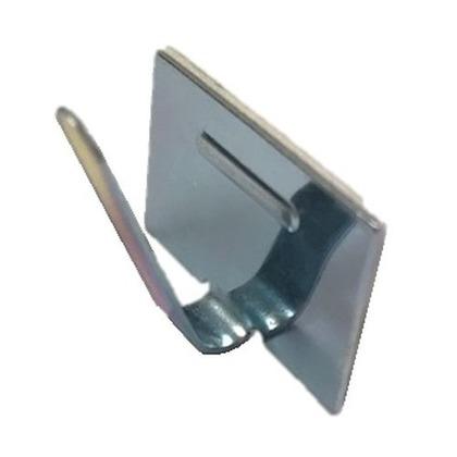 ワイヤーステッカー 金属製粘着式 Sタイプ  長さ(mm):110.幅(mm):75.高さ(mm):10 S15-100 100 個