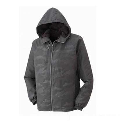 APEXWIN 裏ボアフリースジャケット 迷彩ブラック L 9710-1