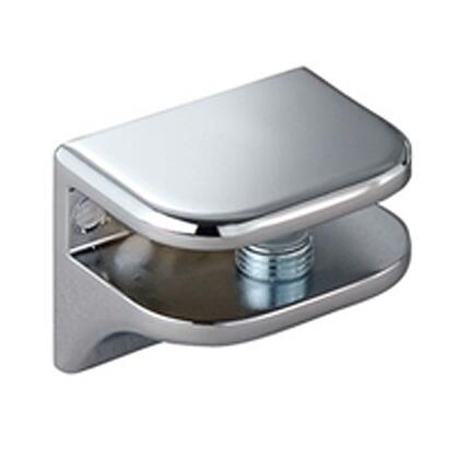 プレートサポート 強化ガラス棚板セット W450 鏡面研磨仕上  2885VA1-450-SET