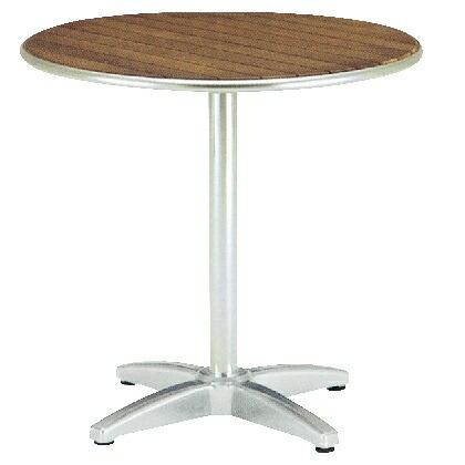 ラウンドテーブル AU800 チーク Φ800×H730? 650702210